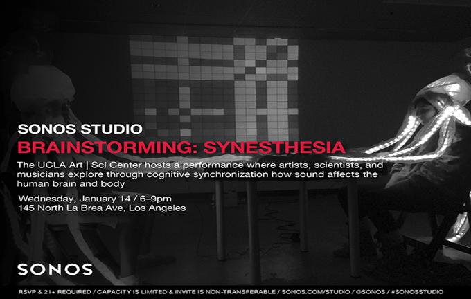 Brainstorming: Synesthesia | SONOS Studios + Art|Sci Center